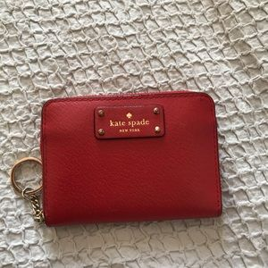 Small Red Kate Spade Wallet